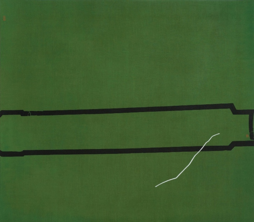Green Silk 绿绮, 2015, 140x160cm, Pigment & Acrylic on Canvas