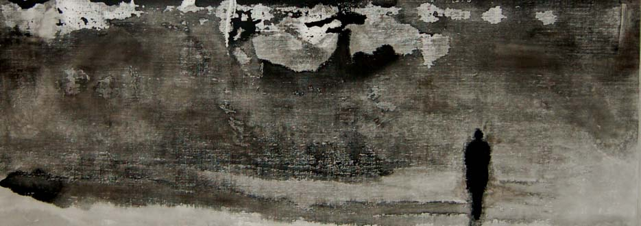 Homme et nature, 2012, ink on canvas