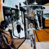 Monogatari II, 2014, Oil on canvas, 80x240cm
