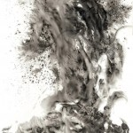 02 龍, 249 x 138 cm, Charcoal, Pastel & Ink on Paper, 2010