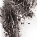 04 捲起再, 255 x 138 cm, Ink on Paper, 2011