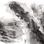 11 花濺淚, 138 x 251 cm, Ink on Paper, 2011