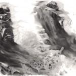 12 鳥驚心, 138 x 244 cm, Ink on Paper, 2011
