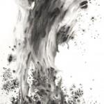 19 不勝箸, 264 x 138 cm, Ink on Paper, 2011
