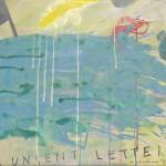 Unsent Letter, 2014, 50 x 130 cm, Acrylic on linen