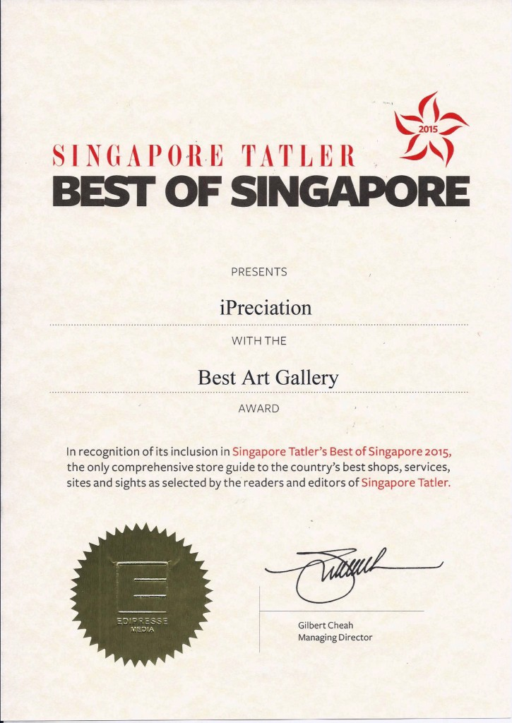 Singapore Tatler, Best Gallery Diploma