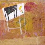 Table, 2015, 40 x 40 cm, Mixed media on canvas