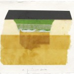 Table, 2014, 21 x 30 cm, 44.5 x 53.5 cm (framed), Mixed media on paper