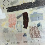 Unsent letter to..., 2014, 200 x 200 cm, Mixed media on linen