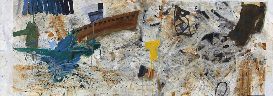 E La Nave Va, 2015, 110 x 200 cm, Acrylic on linen