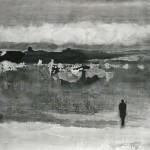 Homme et nature, 2012,130 x 161cm, Ink on Canvas