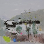 Mulberry Branches, 吴桑绿枝, 2015, 60 x 60cm, Oil on Canvas
