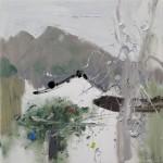 Vine On The Wall, 墙伴缠藤, 2015, 60 x 60cm, Oil on Canvas