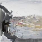 Riverside, 河畔啼明, 2015, 60 x 60cm, Oil on Canvas
