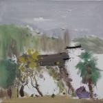 A Lakeside Garden,湖园争印, 2015, 60 x 60cm, Oil on Canvas