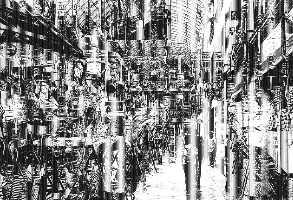 Bugis Street, 2016, 841 x 1189 mm, Mixed-media